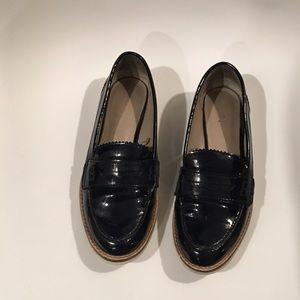 ZARA navy patent shoes